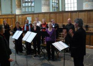 Evensong Oude Kerk Amsterdam: Repetitie voor de dienst